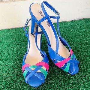 VTG Dear AB Strappy Peep Toe Heeled Sandals